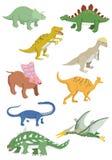 Cartoon dinosaurs icon. Vector drawing Stock Photography