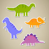 Cartoon Dinosaurs Stock Image