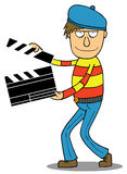 Cartoon Director. Director holding a film slate. This illustration is available in vector eps 8 file with good layer separation for easy editing stock illustration