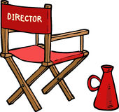 Cartoon director chair Stock Photography