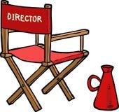 Cartoon director chair Stock Photography