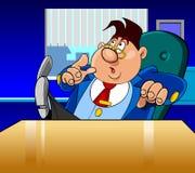 Cartoon director man very surprised Stock Photos