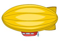 Cartoon Dirigible Royalty Free Stock Photography