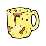 Cartoon dirty old mug Stock Photo