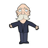 cartoon disapointed old man Royalty Free Stock Photo