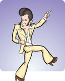 Cartoon disco dancer. Vector illustration of cartoon disco dancer. Easy-edit layered vector EPS10 file scalable to any size without quality loss Stock Image