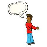 Cartoon disgusted man with speech bubble Stock Photo