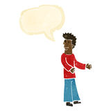 Cartoon disgusted man with speech bubble Royalty Free Stock Photos