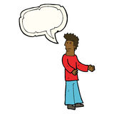 Cartoon disgusted man with speech bubble Royalty Free Stock Photography