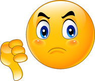 Cartoon dislike emoticon. Illustration of Cartoon dislike emoticon Stock Photo