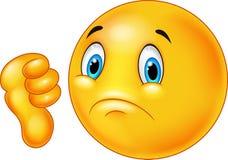 Cartoon dislike smile emoticon. Illustration of Cartoon dislike smile emoticon Stock Images