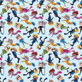 Cartoon diver seamless pattern Stock Photo