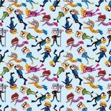 Cartoon diver seamless pattern Stock Photo
