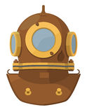Cartoon diving helmet Royalty Free Stock Photos