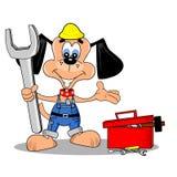 Cartoon DIY repair man royalty free stock images