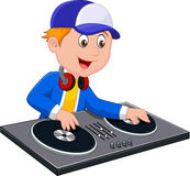 Cartoon DJ boy Royalty Free Stock Photography