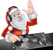 Cartoon DJ Santa Stock Photography