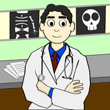 Cartoon doctor Stock Image