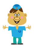 Cartoon  doctor boy on white Royalty Free Stock Photo