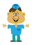 Cartoon  doctor boy on white Royalty Free Stock Photos