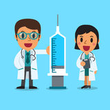 Cartoon doctor character man and woman Stock Photography