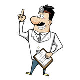 Cartoon doctor with clipboard Stock Image