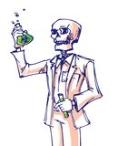 Cartoon doctor death art colorfull. Sketch royalty free illustration