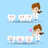 Cartoon doctor dentist woman Royalty Free Stock Photo