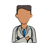 Cartoon doctor healthcare professional clinic stethoscope Royalty Free Stock Photos