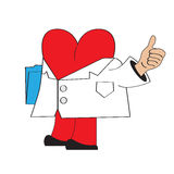 Cartoon doctor heart Stock Images