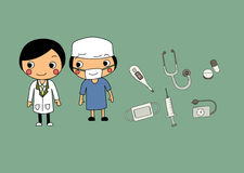 Cartoon doctor icon vector design Stock Photos