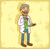 Cartoon doctor illustration, vector icon Stock Image
