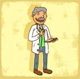 Cartoon doctor illustration, vector icon Stock Image