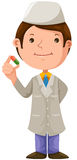 Cartoon doctor with medical Stock Image