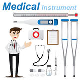 Cartoon doctor with medical instrument Royalty Free Stock Image