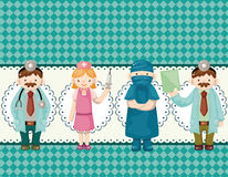Cartoon doctor and nurse card Stock Photography