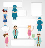 Cartoon doctor and nurse card Stock Images