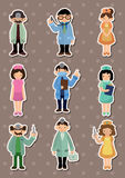 Cartoon doctor and nurse  stickers Royalty Free Stock Photography