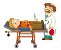 Cartoon doctor and patient - isolated Stock Images
