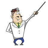 Cartoon doctor with pointer Royalty Free Stock Image