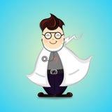 Cartoon Doctor Smile health care vector illustration royalty free illustration