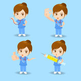 Cartoon doctor surgeon woman Royalty Free Stock Images