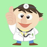 Cartoon  doctor thumbs up Royalty Free Stock Photos