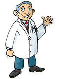 Cartoon doctor in white coat Royalty Free Stock Images
