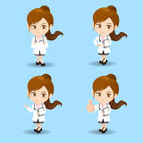 Cartoon doctor woman Stock Photo