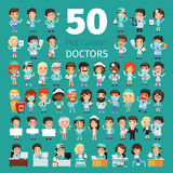 Cartoon Doctors Big Collection Royalty Free Stock Image