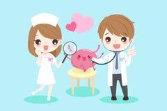 Cartoon doctors with bladder Stock Photo