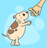 Cartoon dog. royalty free illustration