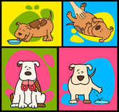 Cartoon dog. Set of cartoon dogs. illustration on a  background for a design Royalty Free Stock Photography
