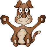 Cartoon Dog Royalty Free Stock Photography